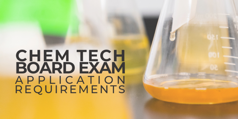 Chemical Technician Licensure Exam Application Requirements